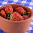 Fresh organic strawberries closeup shot — Stock Photo #53463979