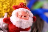 Santa Claus, christmas invitation card, close up — Stock Photo