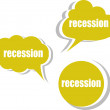 Recession. Set of stickers, labels, tags. Template for infographics — Stock Photo #53816139