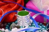クリスマス装飾境界線、新年の招待カード — ストック写真