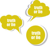 Truth or lie. Set of stickers, labels, tags. Template for infographics — Stock Photo