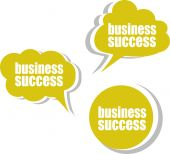 Business success. Set of stickers, labels, tags. Business banners, Template for infographics — Stock Photo