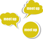 Meet up. Set of stickers, labels, tags. Business banners, infographics — Stock Photo