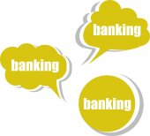 Banking. Set of stickers, labels, tags. Template for infographics — Stock Photo
