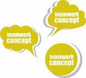 Teamwork concept. Set of stickers, labels, tags. Template for infographics — Stock Photo