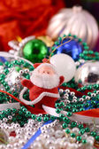 Santa Claus with Christmas toys, new year decoration — Foto Stock