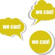 We can. Set of stickers, labels, tags. Template for infographics — Stock Photo #53929573
