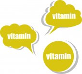 Vitamin. Set of stickers, labels, tags. Template for infographics — Stockfoto