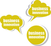 Business innovation. Set of stickers, labels, tags. Template for infographics — Stock Photo