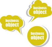 Business object. Set of stickers, labels, tags. Template for infographics — Foto Stock