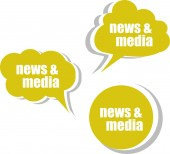 News and media. Set of stickers, labels, tags. Template for infographics — Stock Photo