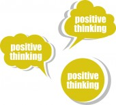 Positive thinking. Set of stickers, labels, tags. Template for infographics — Stock Photo