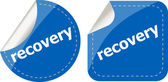 Stickers label set business tag with recovery word — Stockfoto