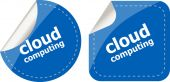 Stylish cloud speech bubble, cloud computing concept — Stock Photo