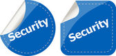 Business security stickers label tag set isolated on white — Zdjęcie stockowe