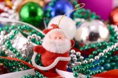 Santa Claus with Christmas toys, new year decoration — Stock Photo