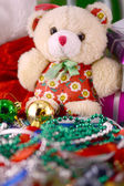 Christmas balls set, new year invitation card — ストック写真