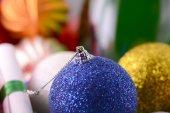 Vánoční koule set, novoroční pohlednice — Stock fotografie