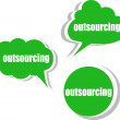 Outsourcing. Set of stickers, labels, tags. Business banners, Template for infographics — Stock Photo #55080823
