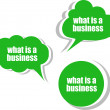 What is a business. Set of stickers, labels, tags. Business banners, Template for infographics — Stock Photo #55081409