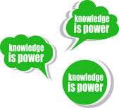 Knowledge is power. Set of stickers, labels, tags. Template for infographics — Stock Photo