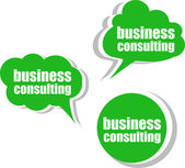 Business consulting. Set of stickers, labels, tags. Template for infographics — Stock Photo