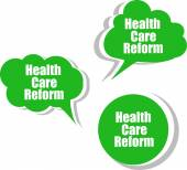 Health care reform, Set of stickers, labels, tags. Template for infographics — Photo