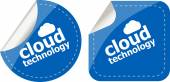 Cloud application stickers label tag set isolated on white — Stock Photo