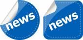 News stickers set, icon button isolated on white — Fotografia Stock