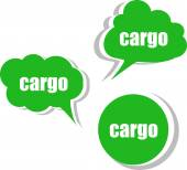 Cargo. Set of stickers, labels, tags. Template for infographics — Foto de Stock