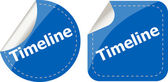 Timeline Labels, stickers, pointers, tags for your (web) page — Stock Photo