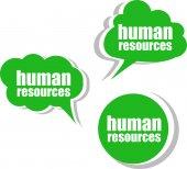 Insan kaynakları. etiketler, etiket, etiketler kümesi. şablon için infographics — Stok fotoğraf