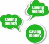 Saving money. Set of stickers, labels, tags. Business banners — Photo