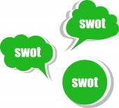 Swot. Set of stickers, labels, tags. Template for infographics — Stock Photo