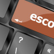 Escort button on computer pc keyboard key — Stock Photo #55558849