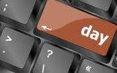 Tag-taste am computer pc tastatur schlüssel — Stockfoto