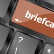 Briefcase text button on keyboard with soft focus — Stock Photo #55564097
