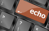 Keyboard key with echo button — Stock Photo