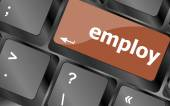 Employ button on computer pc keyboard key — Stock Photo
