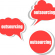 Outsourcing. Set of stickers, labels, tags. Business banners, Template for infographics — Stock Photo #56498529
