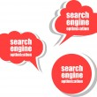 Search engine optimization. Set of stickers, labels, tags. Business banners, Template for infographics — Stock Photo #56498663