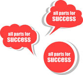 All parts for success. Set of stickers, labels, tags — Stock Photo