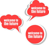 Welcome to the future. Set of stickers, labels, tags. Business banners, Template for infographics — Stock Photo