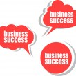 Business success. Set of stickers, labels, tags. Business banners, Template for infographics — Stock Photo #56500427