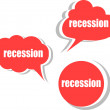 Recession. Set of stickers, labels, tags. Template for infographics — Stock Photo #56500775