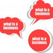 What is a business. Set of stickers, labels, tags. Business banners, Template for infographics — Stock Photo #56500907
