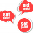 Set goals. Set of stickers, labels, tags. Template for infographics — Stock Photo #56504257