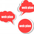Web plan. Set of stickers, labels, tags. Template for infographics — Stock Photo #56504279