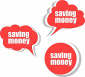 Saving money. Set of stickers, labels, tags. Business banners — Stock Photo