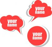 Your name. Set of stickers, labels, tags. Business banners — Stock Photo